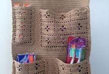 spatii de depozitare croșetate și tricotate