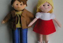 Dolls To Cuddle / ♥  All Things Dolls!  ♥ {Nesting Dolls, Felt Dolls, etc...} / by Jan Stevens