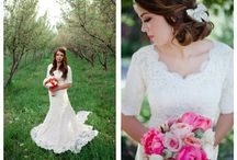 Gorgeous Modest Brides / Modest bride ideas, LDS Wedding, Jewish Orthodox Wedding, Dress shapes to inspire Modest Bolero designs for www.alisabenay.com / by Alisa Benay