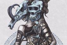 OKKVLT - Illustrations - Skulleton