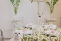 A Posh Garden Party / Perfect Tablescape for a garden wedding or party
