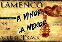 Backing Tracks for Flamenco/Classical Guitar / Free jam tracks for classical guitar with chords. Base/pistas de acompañamiento para guitarra flamenca. Collections of instrumental modern backing tracks, with Spanish guitars and Latin percussions. Ideal to study or improvise guitar solos with classical or acoustic guitar or to use as instrumental karaoke.