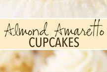 amaretto almond cupcakes