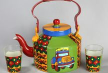 Kettle Akrazymug / Hand painted gift articles ideal for home decor cum daily utility. All our products are food safe and non toxic.