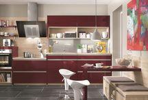 Bunte Küchen / Farbige Küchen, colorful kitchen, knallige Farben in der Küche