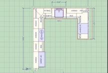 Kitchen Layout Design / l shaped kitchen layouts, u shaped kitchen layouts, one wall kitchen layout, kitchen layouts with island, galley kitchen layouts, design your own kitchen layout, kitchen layout planner, small kitchen layout ideas