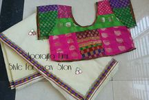 Saree & Blouse set match pair / Set match saree n blouse pair. Lebel Aporajita Tumi