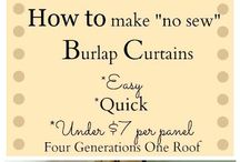 Basement decorating / Curtains and decor