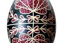 Hungarian Easter eggs - Magyar hímes tojások / painting easter eggs
