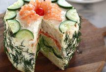 Savoury sandwich cakes