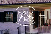 Ponzio Persiane Louvers / Ponzio Persiane Louvers are the perfect representation of ancient beauty with modern technology! It possess aesthetics of traditional wooden shutters retaining all the advantages of aluminum. The product design allows the integration in architectural contexts of historical, traditional and modern. #beautexluxuryconcepts #ponzioaluminium  #windowsanddoors #windows #doors