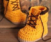 sapatos de crochê criança