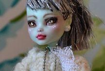 Monster High repaint Puppen / neubemale Monster High Puppen, repaint dolls