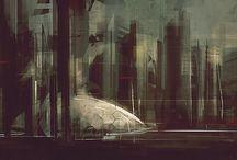 cyberpunk city / cyberpunk city / by rafal szulczewski