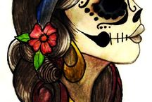 Dia de los muertos / Theme board with skull images and great ideas for Halloween / by Adams House