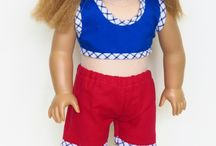 """American Girl Doll Clothes - Outfits / Outfits for 18"""" dolls made using patterns from www.ik-patterns.com with link to patterns"""