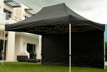 Tentes pliantes SPORTING / Des tentes pliantes pour la famille et les associations. Toile 280 gr/m² polyester avec armature métal, pack murs compris