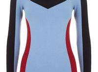 Sweter pinko czerw-nieb-czarny