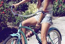 Bella on the bike