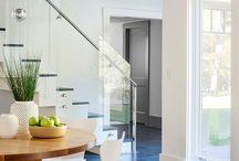 escadaria / Tipo de revestimento e modelos de corrimão para escadarias