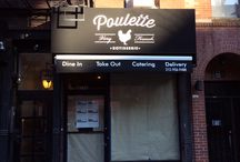 Poulette NYC / Very French Rotisserie Chicken Take Out Restaurant located in NYC's Hell's Kitchen.