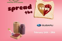 Spread the Love 2014 / Spread the Love aims to gather donations of peanut butter and jelly, a high demand but expensive and not often donated food. With the help of Subaru we want to get the community involved in Spread the Love!