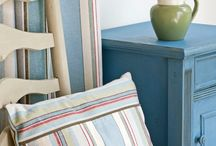 Annie Sloan Fabrics / Imported designer fabrics designed by Annie Sloan to coordinate with her #chalkpaint colours.