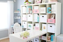 Craft Room/Office / #decor #ideas #office #craftroom #study