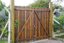 portão rústico