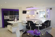 Simplistic and Stylish - The perfect kitchen for social soirées / With 46 sq. m to play with, Mr and Mrs Birch turned their redundant house extension into the ultimate party kitchen - filled with appliances for top notch cooking and a chillout area for up to 20 guests.