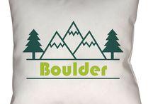 Boulder, Colorado Throw Pillows