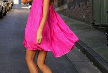 Dresses:  Pink