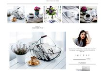 Blogging in Style / Inspiration and ideas to create an aesthetically pleasing blog template