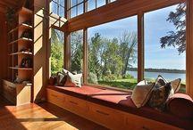 Love a good window seat or bookshelf...