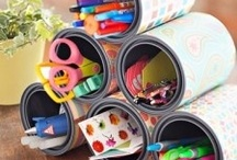 Recycled/Upcycled Crafts / New purposes for paper towel/TP rolls, tin cans, bottles, cardboard, etc. -- Furniture, too! / by Kayla Hargaden