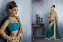 2331 Aura Georgette Embroidery heavy work sarees