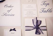 Wedding Mood Board - Navy