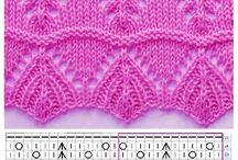 Vzorky na pleteni.