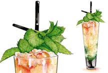 Illustration: Drinks / Beverage illustrations.