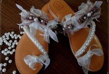 Handmade leather wedding sandals / The careful handicraft and the genuine Greek leathers guarantee the quality of our products