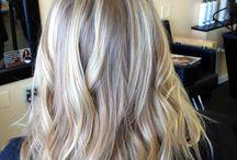 Ash blond hair