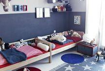 Red White & Blue Children's Room