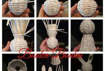 Velikonoční pletení papír