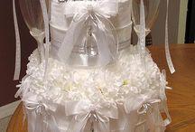 Diaper/wedding cakes