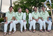 Mens Beach Wedding Clothes / Beach wedding attire and outfits for the groom, his groomsmen and other men in the wedding party. Casual and formal menswear ideas for beach and tropical weddings. Mens beach wedding clothing ideas from real weddings on the beach.