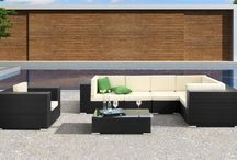 Outdoor Collection / Dine, lounge and entertain outdoors with our modern outdoor furniture collection. From outdoor sectionals and sofa sets to swing chairs, we offer many pieces to help you create your outdoor living and dining space. / by Zuri Furniture