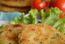 Hamburger patate e zucchine