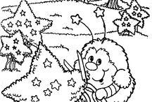 Páginas para colorear - niños / Páginas con personajes y aprendizaje para niños