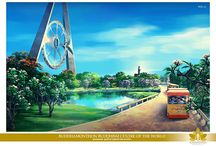 Buddhamonthon Buddhism Center of the World / This are concept designs for the Buddhamonthon Buddhism Center of the World. These designs are done by Creative Kingdom Inc.