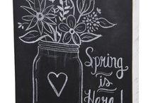 Chalkboards / Seasonal decorating